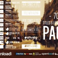 70 HIPSTER TITLES & LOWERTHIRDS FREE DOWNLOAD VIDEOHIVE TEMPLATE