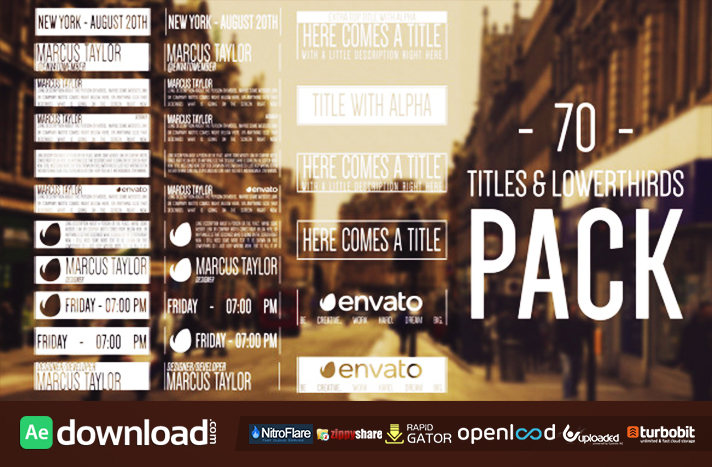 70 Hipster Titles & Lowerthirds free download (videohive template)
