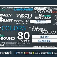 80 SIMPLE TITLE ANIMATIONS VIDEOHIVE FREE TEMPLATE