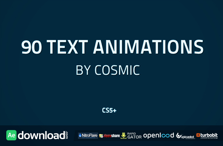 90 Text Animations free download (videohive template)