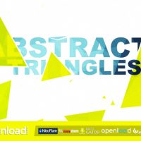 ABSTRACT TRIANGLES LOGO REVEAL FREE VIDEOHIVE TEMPLATE
