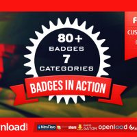 80+ BADGES CORPORATE FESTIVAL NEON ORGANIC FREE DOWNLOAD VIDEOHIVE TEMPLATE