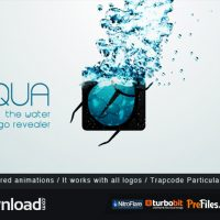 AQUA – THE WATER LOGO REVEALER (VIDEOHIVE PROJECT) FREE DOWNLOAD