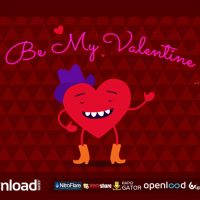 BE MY VALENTINE CARTOON GREETING VIDEOHIVE TEMPLATE FREE DOWNLOAD