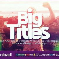BIG TITLES SLIDESHOW TYPOGRAPHY VIDEOHIVE TEMPLATE FREE DOWNLOAD