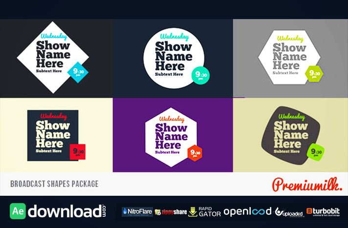 Broadcast Shapes Package free after effects template