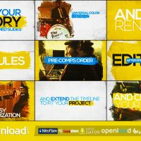 BRUSHED SLIDES – PROMO KIT – FREE VIDEOHIVE TEMPLATE