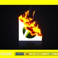 BURNING PAPER LOGO VIDEOHIVE TEMPLATE FREE DOWNLOAD