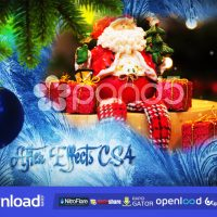 CHRISTMAS FREEZE SLIDESHOW FREE DOWNLOAD POND5 TEMPLATE
