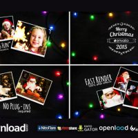 CHRISTMAS LIGHT SLIDESHOW FREE DOWNLOAD VIDEOHIVE TEMPLATE