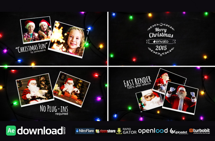 Christmas Light Slideshow free download (videohive template)