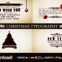 CHRISTMAS TYPOGRAPHY FREE DOWNLOAD VIDEOHIVE TEMPLATE