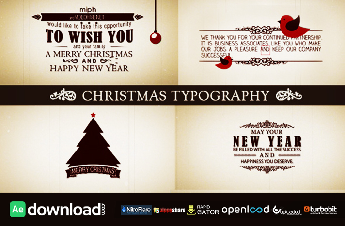 Christmas Typography free download (videohive template)