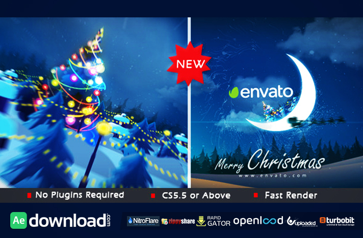 Christmas in Moon free download (videohive template)