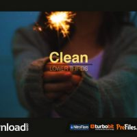 CLEAN LOWER THIRDS (VIDEOHIVE PROJECT) FREE DOWNLOAD