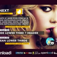 CLEAN LOWER THIRDS 8907441 FREE DOWNLOAD VIDEOHIVE TEMPLATE