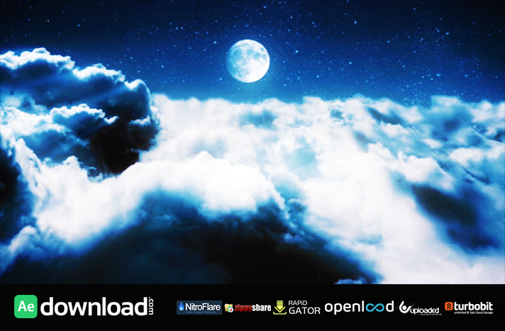 Clouds in a Night Sky free download (videohive template)