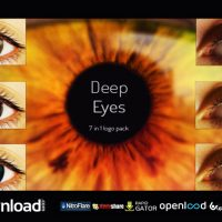 DEEP EYES | 7 IN 1 LOGO PACK FREE VIDEOHIVE TEMPLATE