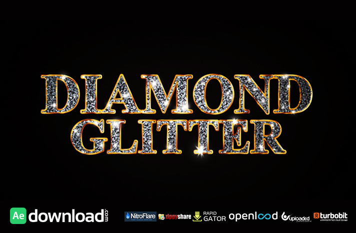 diamond glitter titles videohive template free download free after