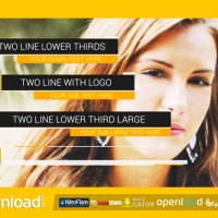 DYNAMIC LOWER THIRDS 9170504 FREE DOWNLOAD VIDEOHIVE TEMPLATE