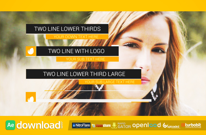 Dynamic Lower Thirds free download (videohive template)