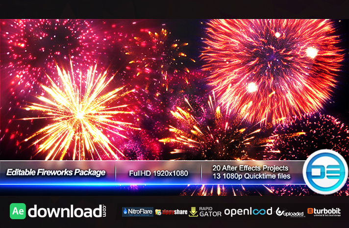 EDITABLE FIREWORKS PACKAGE FREE DOWNLOAD VIDEOHIVE TEMPLATE Free - Editable after effects templates
