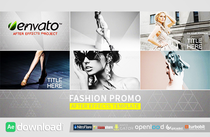 FASHION PROMO FREE DOWNLOAD - VIDEOHIVE PROJECT - Free After Effects ...