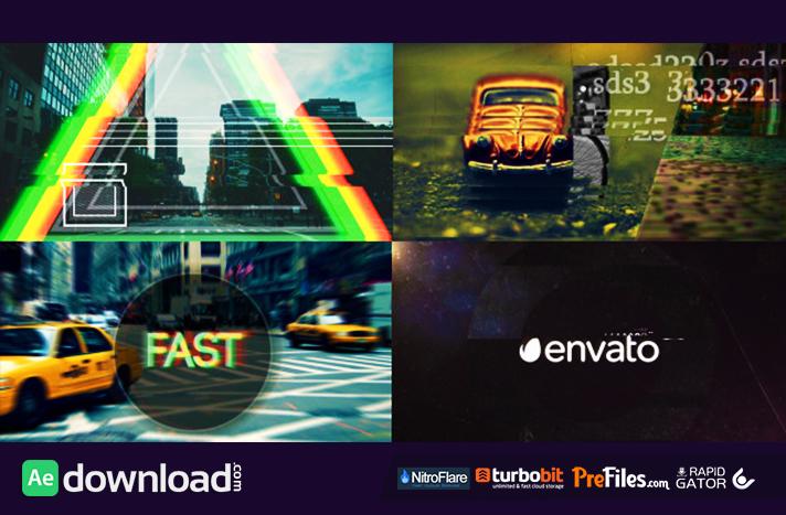 Fast Glitch Logo Opener