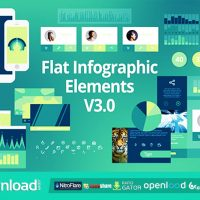 FLAT INFOGRAPHIC ELEMENTS V3.0 – FREE VIDEOHIVE TEMPLATE