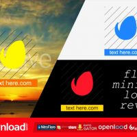 FLAT MINIMAL LOGO REVEAL FREE DOWNLOAD VIDEOHIVE TEMPLATE