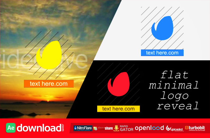Flat Minimal Logo Reveal free download (videohive template)