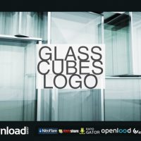 GLASS CUBES LOGO REVEAL VIDEOHIVE TEMPLATE FREE DOWNLOAD