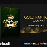 GOLD PARTICLES LOGO PACK (VIDEOHIVE PROJECT) FREE DOWNLOAD