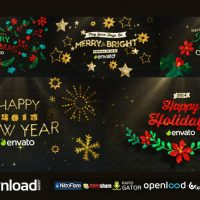 HANGING HOLIDAY GREETINGS PACK FREE DOWNLOAD VIDEOHIVE PROJECT
