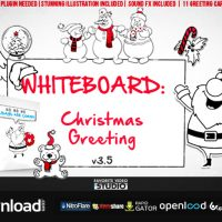 HOLIDAYS WHITEBOARD GREETINGS PACK FREE DOWNLOAD VIDEOHIVE TEMPLATE