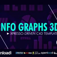 INFO GRAPHS 3D VIDEOHIVE FREE TEMPLATE