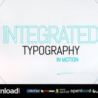 INTEGRATED TYPOGRAPHY VIDEOHIVE TEMPLATE FREE DOWNLOAD