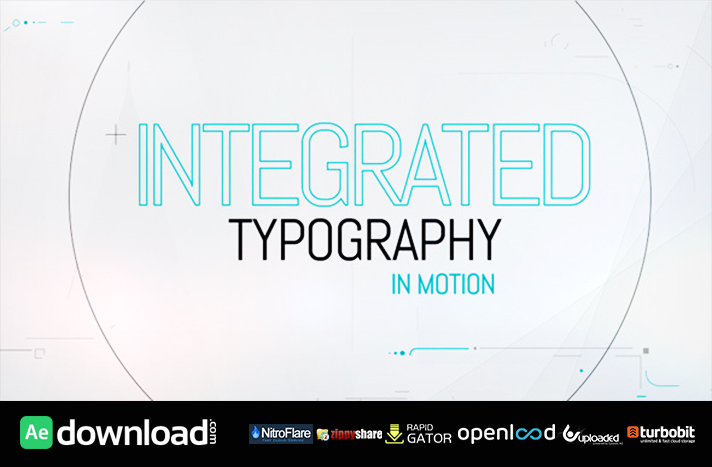 Integrated Typography free download (videohive template)