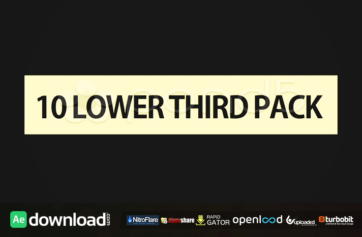 LOWER THIRD 10 PACK POND5 FREE AFTER EFFECTS TEMPLATE