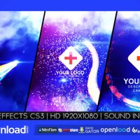 LIGHT STREAK LOGO REVEAL VIDEOHIVE TEMPLATE FREE DOWNLOAD
