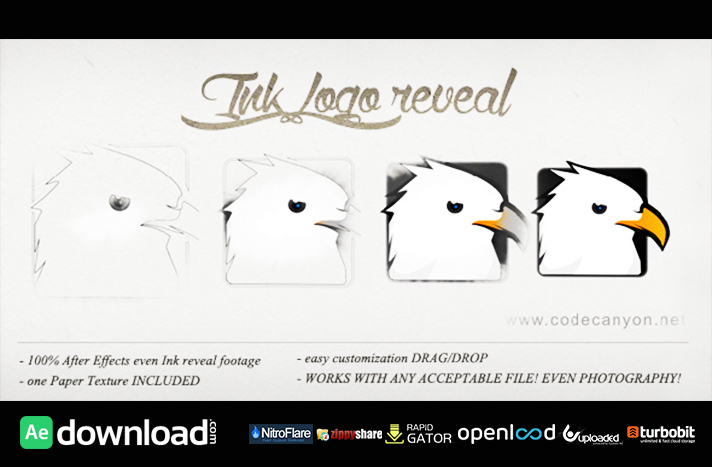 LOGO INK REVEAL FREE DOWNLOAD| VIDEOHIVE TEMPLATE - Free After