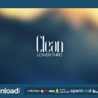 CLEAN LOWER THIRD (VIDEOHIVE PROJECT) FREE DOWNLOAD