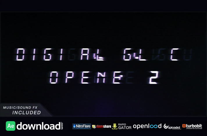 Minimal Digital Glitch Opener 2