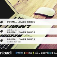 MINIMALIST LOWER THIRDS TEMPLATE FREE DOWNLOAD| VIDEOHIVE TEMPLATE