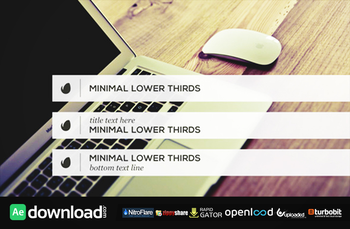 Minimalist Lower Thirds Template (videohive template)
