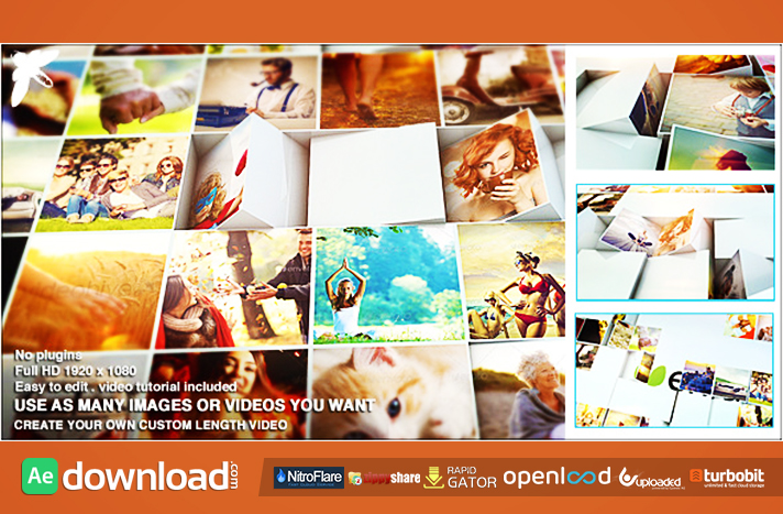 Mosaic Block Reveal free download (videohive template)