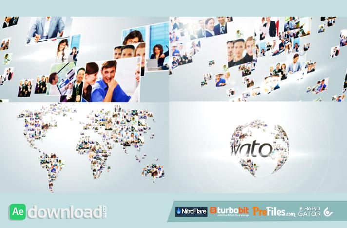 Multi Video Corporate World Logo Revealer