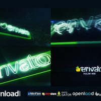 NEON GLITCH LOGO REVEA (VIDEOHIVE PROJECT) FREE DOWNLOAD