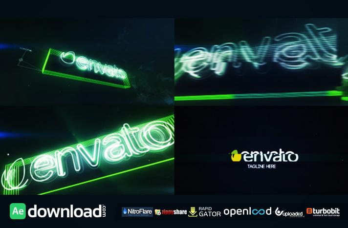 Neon Glitch Logo Reveal