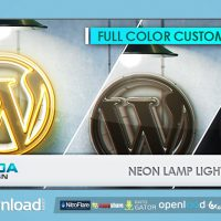 NEON LAMP LIGHT REVEAL VIDEOHIVE FREE TEMPLATE